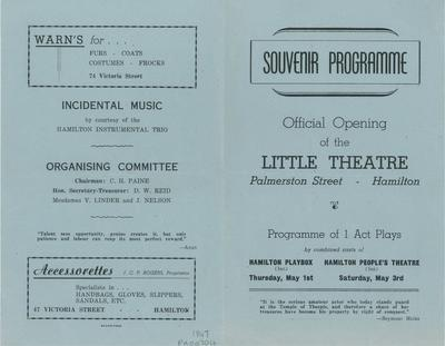 Official opening of the Little Theatre