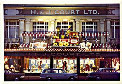H. & J. Court Ltd. Christmas 1965 shop front display