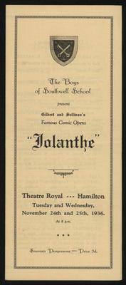 The boys of Southwell School present Gilbert and Sullivan's Iolanthe.