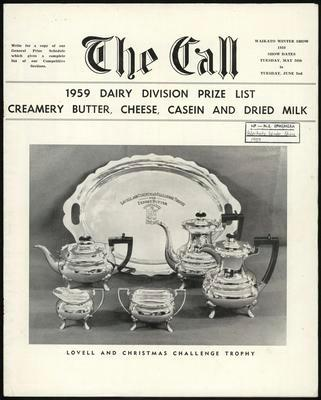 The Call. 1959 Dairy Division Prize List