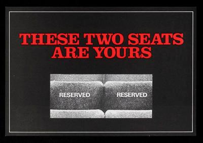 These two seats are yours. Hamilton Amateur Operatic Society Theatre Complex Building Fund