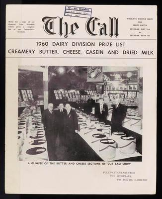 The Call. 1960 Dairy Division Prize List