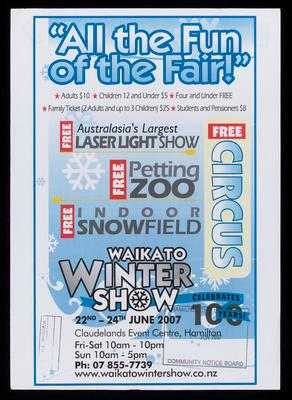 All the fun of the fair! Waikato Winter Show