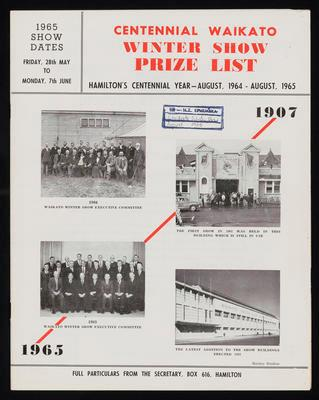 Centennial Waikato Winter Show Prize List (The Call)
