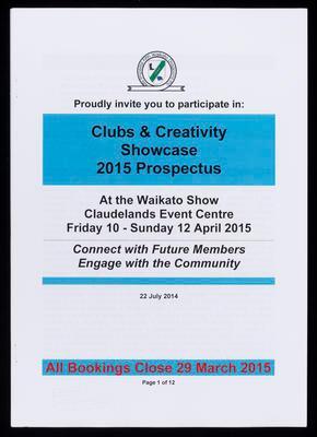 Clubs & Creativity Showcase 2015 Prospectus