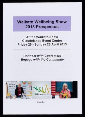 Waikato Wellbeing Show 2013 Prospectus