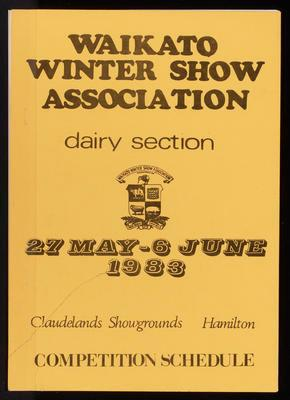 Waikato Winter Show Association dairy section