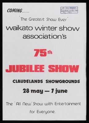 Waikato Winter Show Association's 75th Jubilee Show