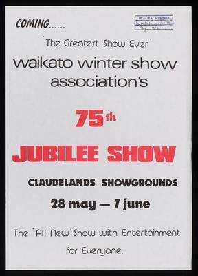 Waikato Winter Show Association's 75th Jubilee Show