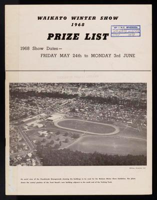 Waikato Winter Show Prize list 1968 (The Call Magazine)