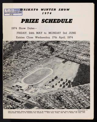 Waikato Winter Show Prize Schedule 1974
