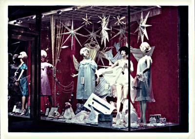 H. & J. Court Ltd. Christmas window display