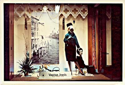 """H. & J. Court Ltd. window display - """"Venetian Jewels"""""""