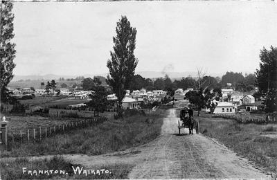 An early view along Lake Road in Frankton