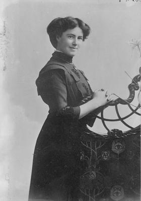 Copy of photo of woman in Edwardian dress - Goodwin