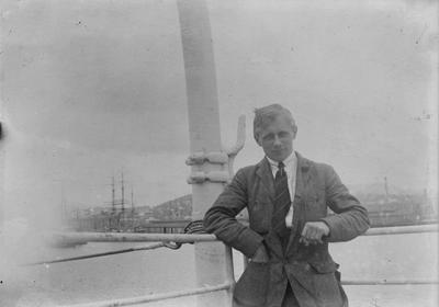Man on a ship