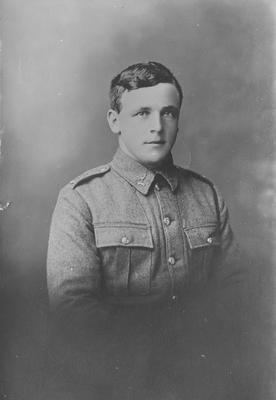 Portrait of man in World War 1 uniform