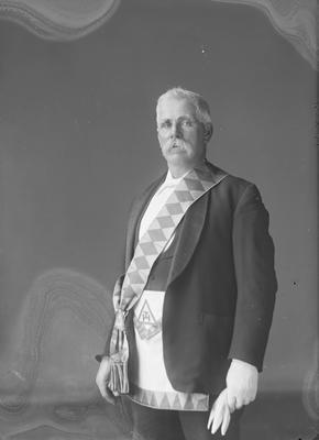 Man in Masonic regalia - Prickett