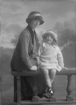 Full length portrait of a woman and a small girl - Radley