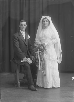 Full lenth portrait of bride and groom - McCarthy
