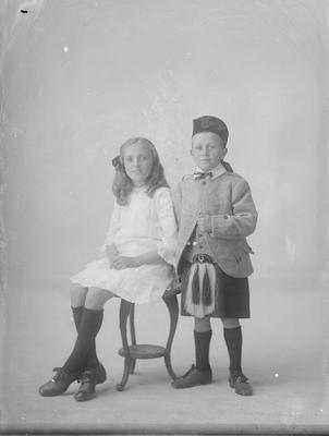 Full length portrait of girl and boy - McIntosh