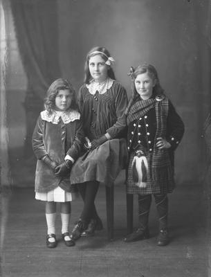 Full length portrait of three girls - McLean