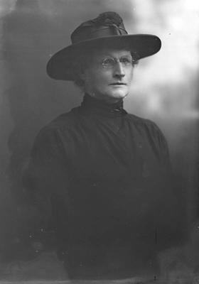 Half portrait of older woman