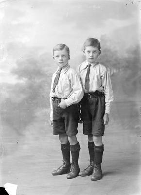 Portrait of two young boys
