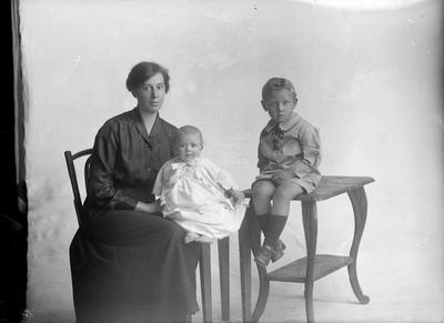 Potrait of a woman with two children