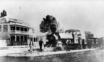 Steam train at Ngaruawahia