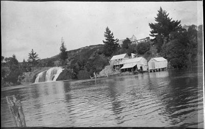 Wallis Bros (brothers), flax mill and Okete Falls