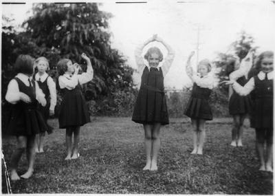 Orini School drill team 1938