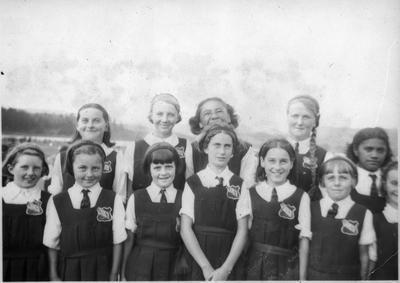 Orini School girls basketball team 1939