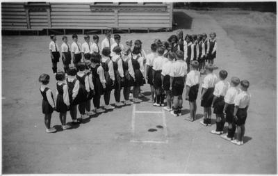 Orini School drill display 1939