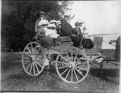 Buggy used for cream delivery