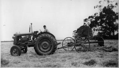 Joe with modern farming equipment