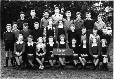 Orini School - Class photo 1952