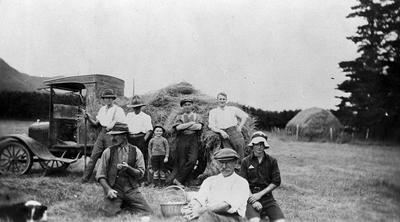 Haymaking and a picnic
