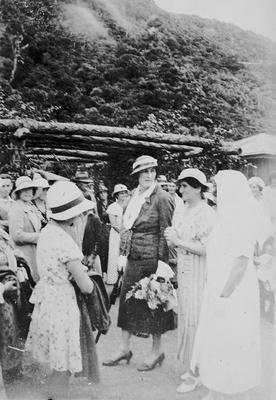 Lord and Lady Galway at Port Waikato Health Camp