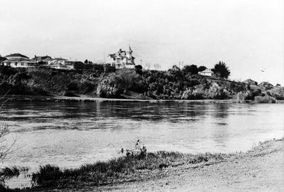 Greenslade House across the Waikato River