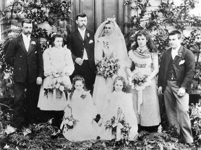 Bath and Hill wedding party