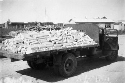 Lorry loaded with aluminium ingots