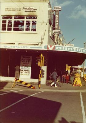 Valintines store after the 1978 Bryce Street Market fire