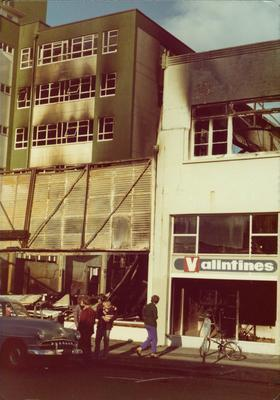 Valintines building after the 1978 Bryce Street Market fire