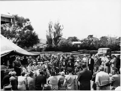 Opening of Ellis & Burnand's Raglan yard
