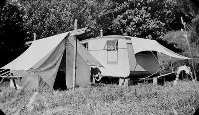 Camping at Raglan