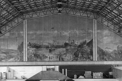 Mural inside Bledisloe Hall