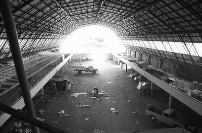 Bledisloe Hall interior during the hall's removal