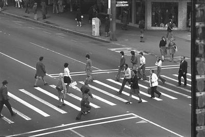 Victoria Street pedestrian crossing near Garden Place