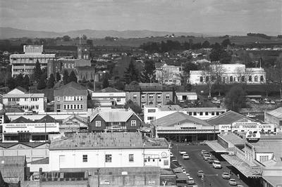 View of south end of Hamilton CBD